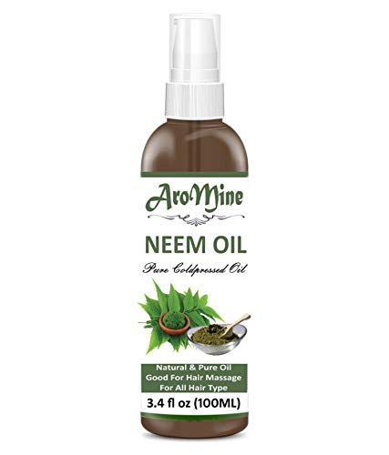 AroMine Pure & Natural Undiluted Cold Pressed Refined Cosmetic Grade Neem Oil for Aromatherapy, Skin Treatment & Hair…
