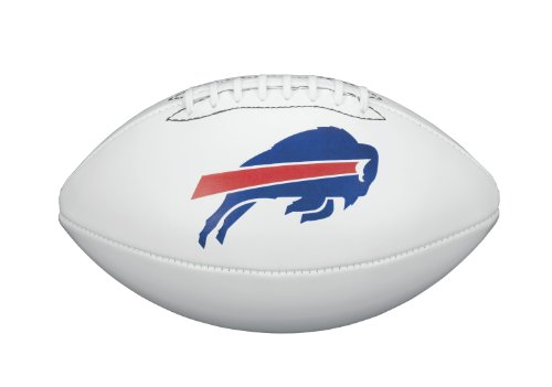 (NFL Team Logo Autograph Football Buffalo Bills)