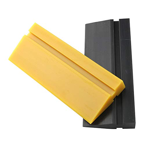 EEFUN Soft Rubber Squeegee blade for Car vinyl wrapping, window tint film installation, car decal tool. Home Glass/Mirror/Window Cleaning as Water blade.