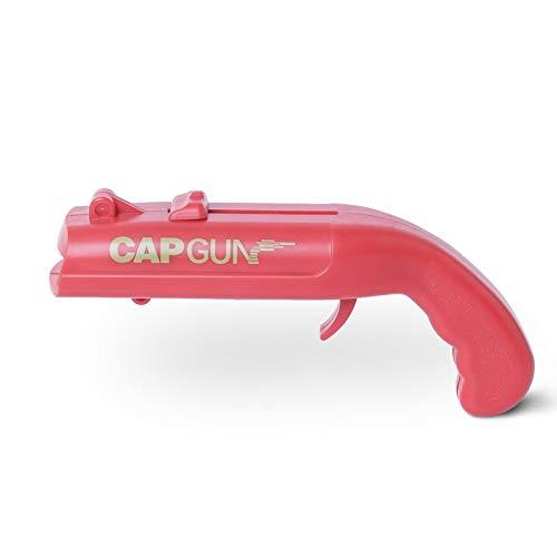 Cap Gun Bottle Opener,Launcher Shooter Beer Opener Over 5 Meters,Creative Firing Pistol Modelling Kitchen Tool (Red)