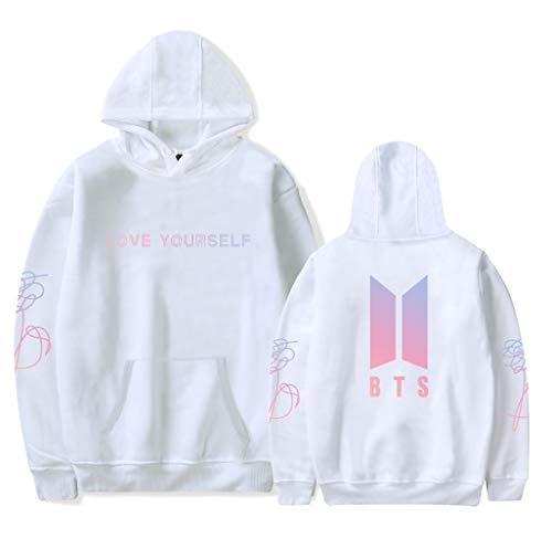 HAMISS BTS Love Yourself Sudadera con Capucha para Regalo de Camisa con diseño de Jungkook Jimin Suga Bighit Stick Clothes,...