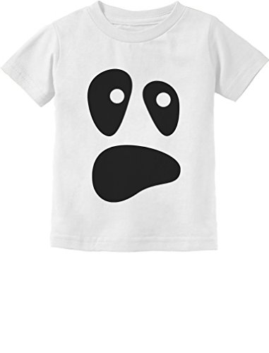 Funny Ghoul Face Halloween Ghost Costume Toddler/Infant Kids T-Shirt 3T White -