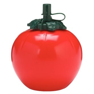 WIN-WARE Tomato Shaped Sauce Bottle Dispenser. Dishwasher Safe Ketchup Dressing Utensil