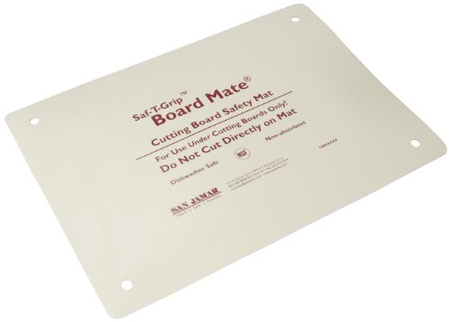 San Jamar CBM1318 Saf-T-Grip Board-Mate Nonslip Cutting Board Mat, 18