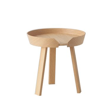 JINCHAN Modern Wood End and coffee table side coffee table (Small, Natural) by JIN CHAN