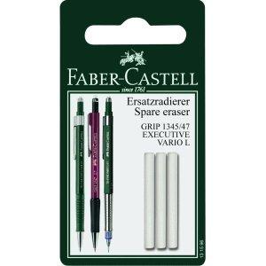 Faber-Castell 5 x Ersatzradierer Executive Grip 1345//1347 auf Blisterkarte 3 St/ück
