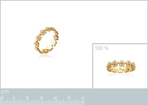 ISADY - Antoniella Gold - Bague femme - Plaqué Or 750/000 (18 carats) - Oxyde de Zirconium