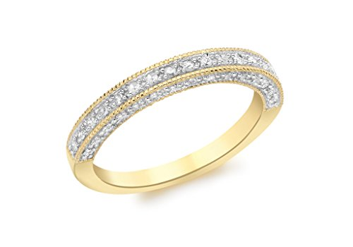 9 ct or blanc serti de diamants Eternity Bague