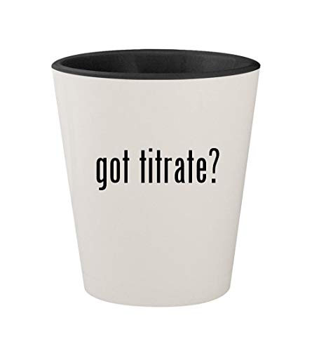 got titrate? - Ceramic White Outer & Black Inner 1.5oz Shot - Titrator Auto
