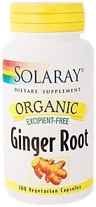 Organic Ginger Root Excipient Free 1,080 MG 100 Vegetarian Capsules