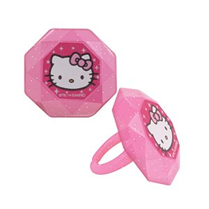 Hello Kitty Princess Cupcake Rings - 12 (Hello Kitty Cupcake Rings)