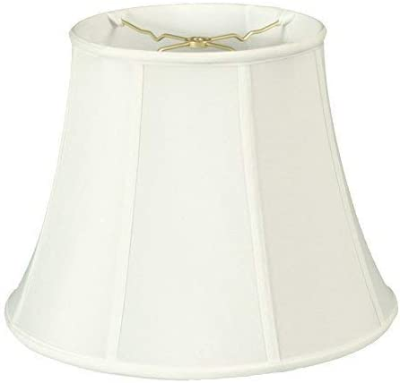 Royal Designs Modified Bell Lamp Shade, White, 12 x 20 x 15
