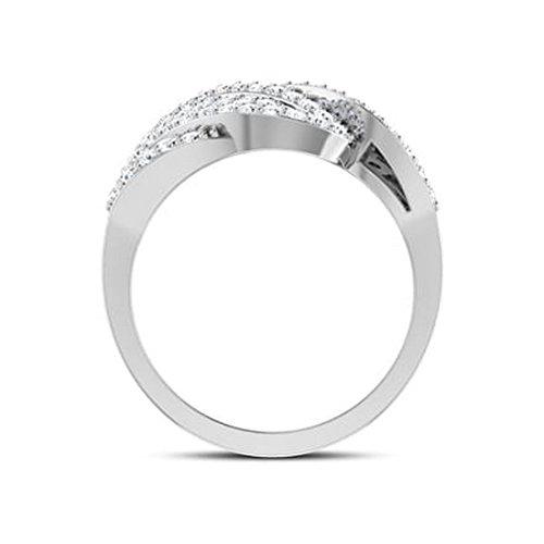 14K Or blanc, 1carat Diamant Taille ronde (IJ | SI) en diamant