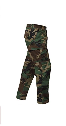 - Bellawjace Clothing Military Style Woodland Camouflage 100% Cot Rip-Stop BDU Cargo Fatigue Pants