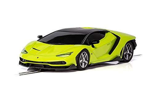 Scalextric C3957 Lamborghini Centenario Lime 1:32 Slot Race Car, Green