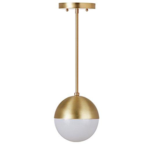 IJ INJUICY Modern Copper Glass Ball Chandelier European Molecular Globe Brass Pendant Hanging Lamp Restaurant Villa Hotel Living Room Bedroom Ceiling Light in Gold Color (#C Dia. 5.9 Inch)