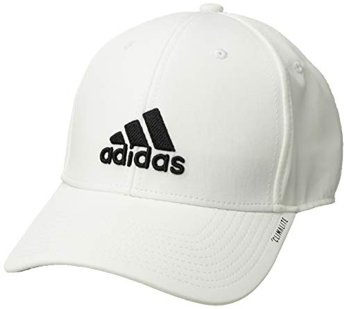 (adidas Men's Franchise Structured Stretch Fit Cap, white/black, S/M)