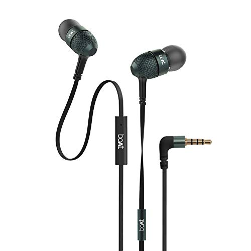 boAt Bassheads 225 in Ear Wired Earphones with Mic(Black) Discounts Junction