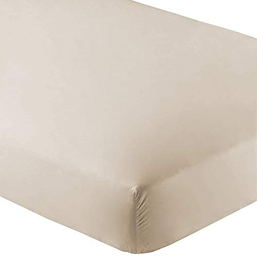 Macys Hotel Collection Mattress - Bare Home Fitted Bottom Sheet Premium 1800 Ultra-Soft Wrinkle Resistant Microfiber, Hypoallergenic, Deep Pocket (Queen, Sand)
