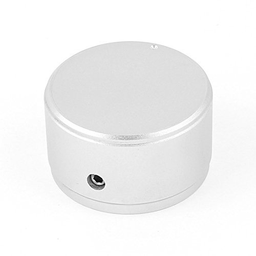 Uxcell a15020500ux0472 Aluminium Alloy Volume Control Knob for 6 mm Potentiometer Shaft, 38 mm x 22 (Round Control Knob)