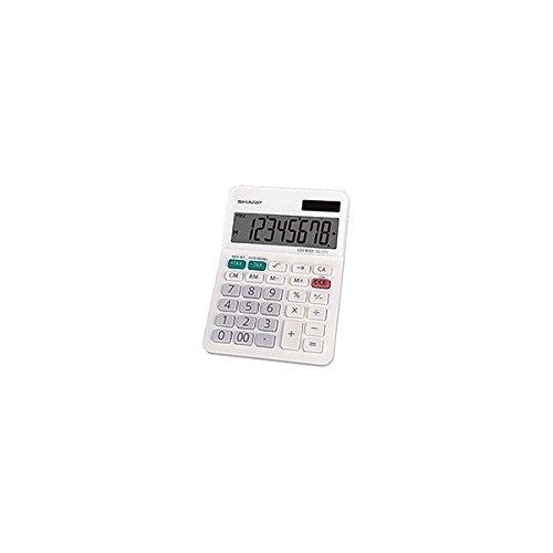 Sharp EL-310WB 8 Digit Professional Mini-Desktop Calculator White Color 5-Pack