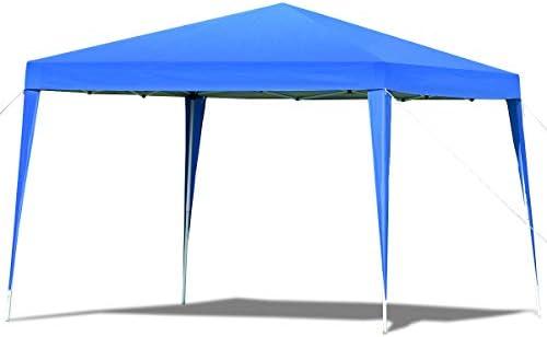COSTWAY - Carpa de jardín Plegable de Tubo de Acero y Tela de Oxford para Exterior, 3 x 3 x 2, 5 m, Azul: Amazon.es: Jardín