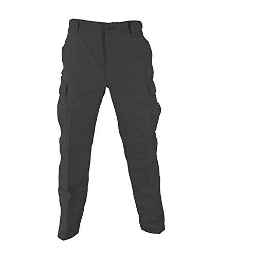 Propper Men's Zip Fly BDU Trouser, Black, 4X-Large Regular