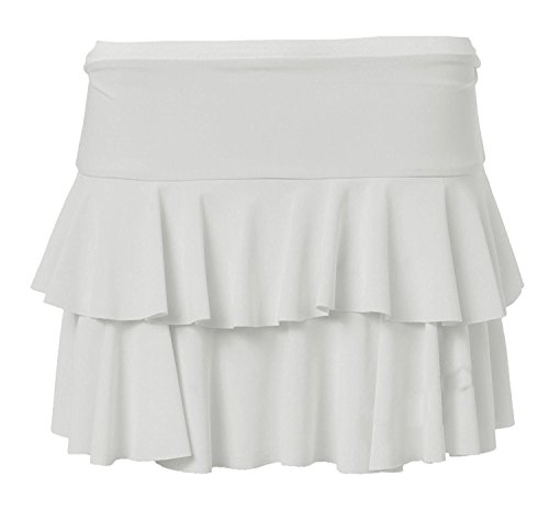 Hot Mini Mesdames Layered Jupe Femmes Non Stretch Beau Blanc RaRa Skort GirlzWalk vas courte Fridge wqgXapqF