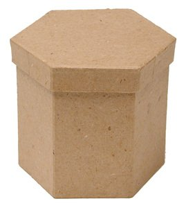 Group of 6 Hexagon Paper Mache Boxes with Lids for Crafting, Creating and (Dcc Paper Mache)
