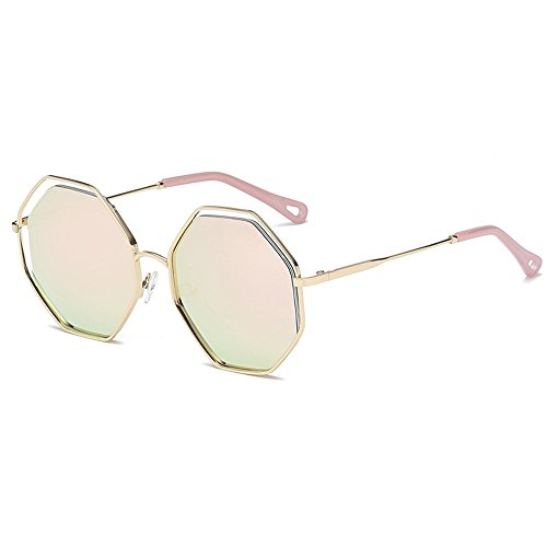Frame cherry Ptotection Sunglasses Gold Eyewear Frame UV Metal Personality Outdoor Luxury Polygonal Pink Sunglasses Unisex Retro Lens Fashion Travel Sunglasses qwAT6xvp