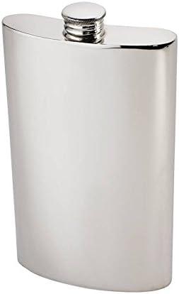 Plain Pewter Kidney Flask,Hip Flask Spirit Flask 8oz capacity Wentworth Pewter