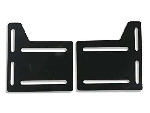 CLAW IT ON Bed Rail Hooks Plate Adapter Bracket Conversion Kit Bolt On Bed Headboard Footboard Frame 2 PACK Comes with Longer BOLTS, NUTS, WASHERS Bed Headboard Bracket Adapter Plate Conversion Kit ()