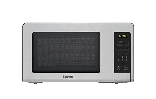 Kenmore 0.7 Cubic Feet Small 700W Microwave Oven - Stainless Steel