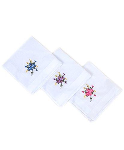 Selini NY Boxed Fancy 6 pc. Ladies Cotton Handkerchiefs