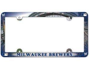 Milwaukee Brewers MLB Set of (2) License Plate Frames - Full Color (Milwaukee Mlb Car Brewers)