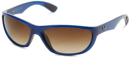 Ray-Ban RB4188 - SHINY BLUE Frame BROWN GRADIENT Lenses 63mm - China Made Ray Bans In