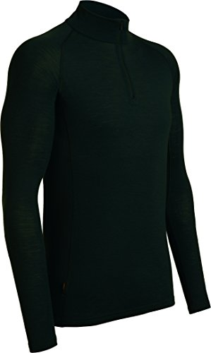 - Icebreaker Merino Men's Everyday Long Sleeve Zip Top, Black, Medium