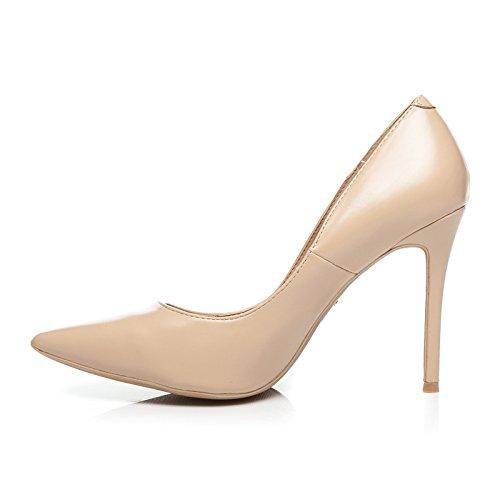 Schuhzoo Elegante Damenschuhe High Heels Spitze Pumps Stiletto 4 Tolle Farben Beige