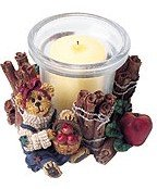 Boyds Bears Ms. Macintosh Mulled Spices Votive Holder #27728