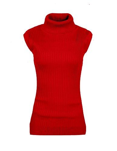 Womens Juniors Sleeveless Turtleneck Sweater