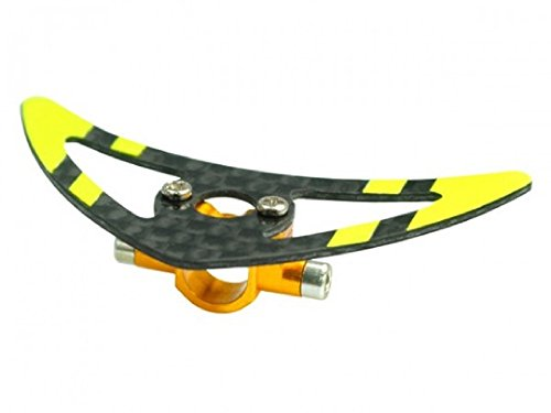 Microheli Aluminum Tail Boom Support Mount w/ Fin (YELLOW) - BLADE 200 SRX