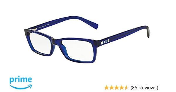 3825c8ec39 Amazon.com  Armani Exchange AX3007 Eyeglass Frames 8018-53 - Marine  Transparent AX3007-8018-53  Shoes