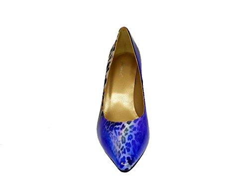 GENNIA Medina - Women´s Closed Toe Leather Pumps with Stiletto Heel Leather Patent Arcoleo ( Leopard Multicolor ) ztX5hiGc