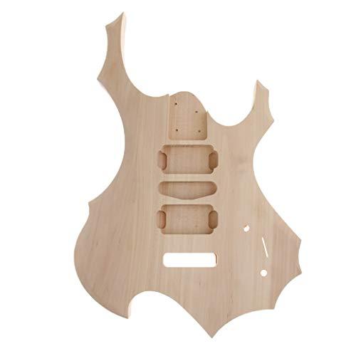 B Blesiya Handmade Electric Guitar Raw Blank Body Barrel Material DIY Luthier ()