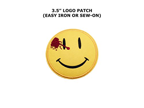 The Watchmen Smiley Face 3 1/2 Wide Embroidered Iron On Patch