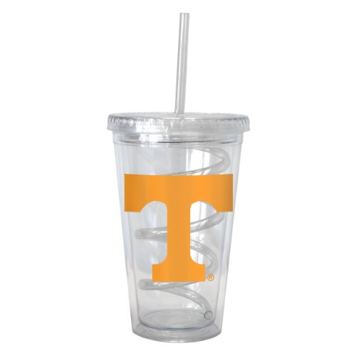 (NCAA Tennessee Volunteers Tumbler with Swirl Straw, 16-ounce)