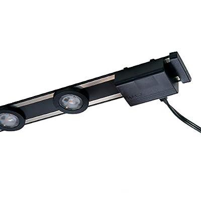 HALO 24 in. LED Black Under Cabinet Puck Light Kit, 4 Pucks, 3000K Color Temperature