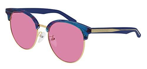Balenciaga BB0020SK Sunglasses 004 Multicolor-Light Blue/Pink Lens 55 mm