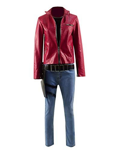 TISEA Adult Men's Leon Kennedy and Women's Claire Redfield Cosplay Costume (Women's Fullset, -