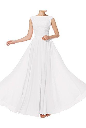 Spitze Ivydressing Promkleider Einfach Festkleid Ballkleid Damen Abendkleider Linie lang Weiß A PqRrqAxIw